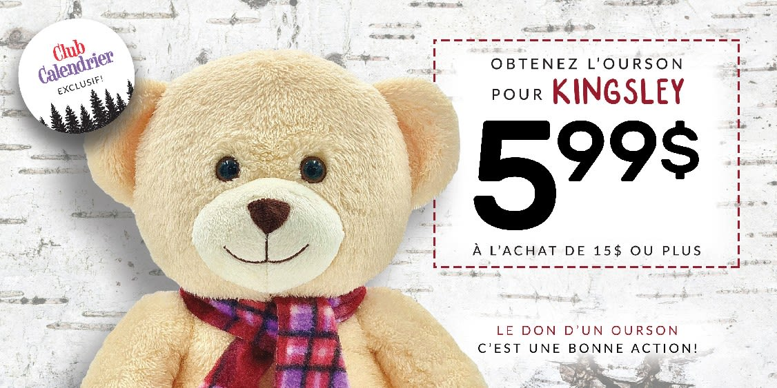 [French] [Image] [offer] Kingsley the Bear - $5.99