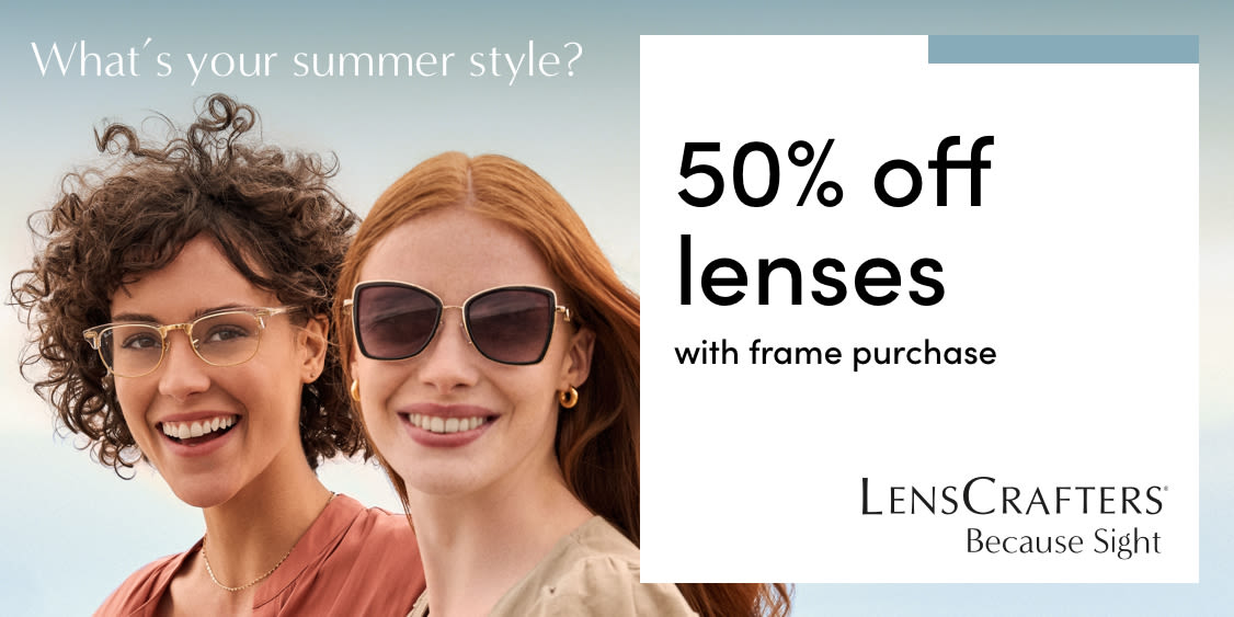 [Image] [offer] Limited Time Offer: 50% off Lenses with Frame Purchase!
