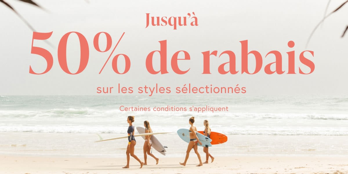 [French] [Image] [offer] Up to 50% off selected styles