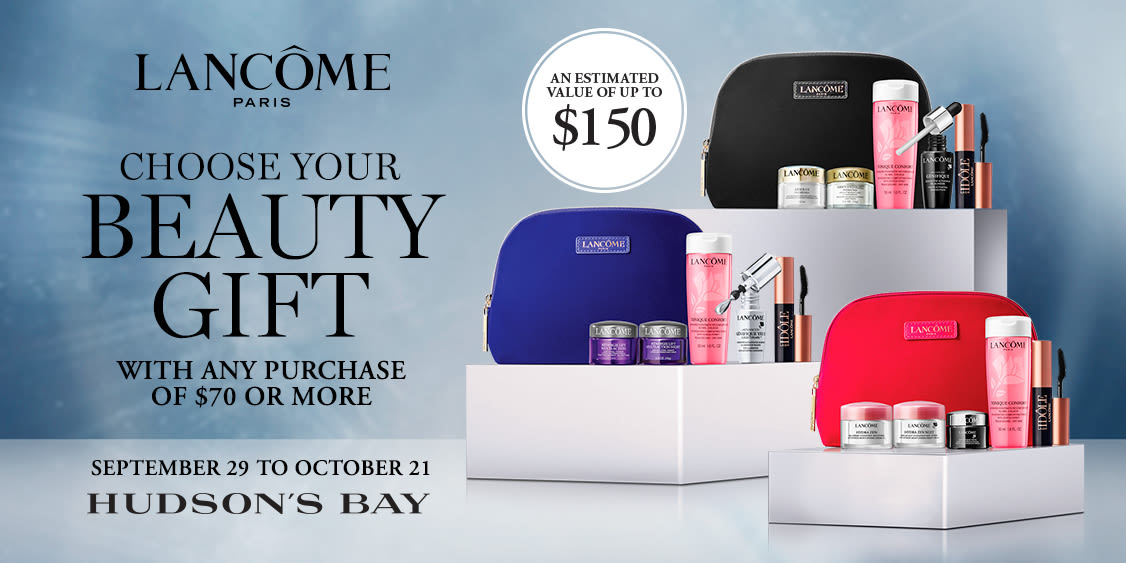 [Image] [offer] LANCOME FREE GIFT WITH PURCHASE - September 29 to October 21, 2021