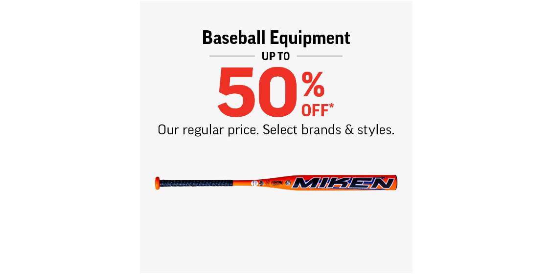 [Image] [offer] Baseball Equipment Up To 50% Off!