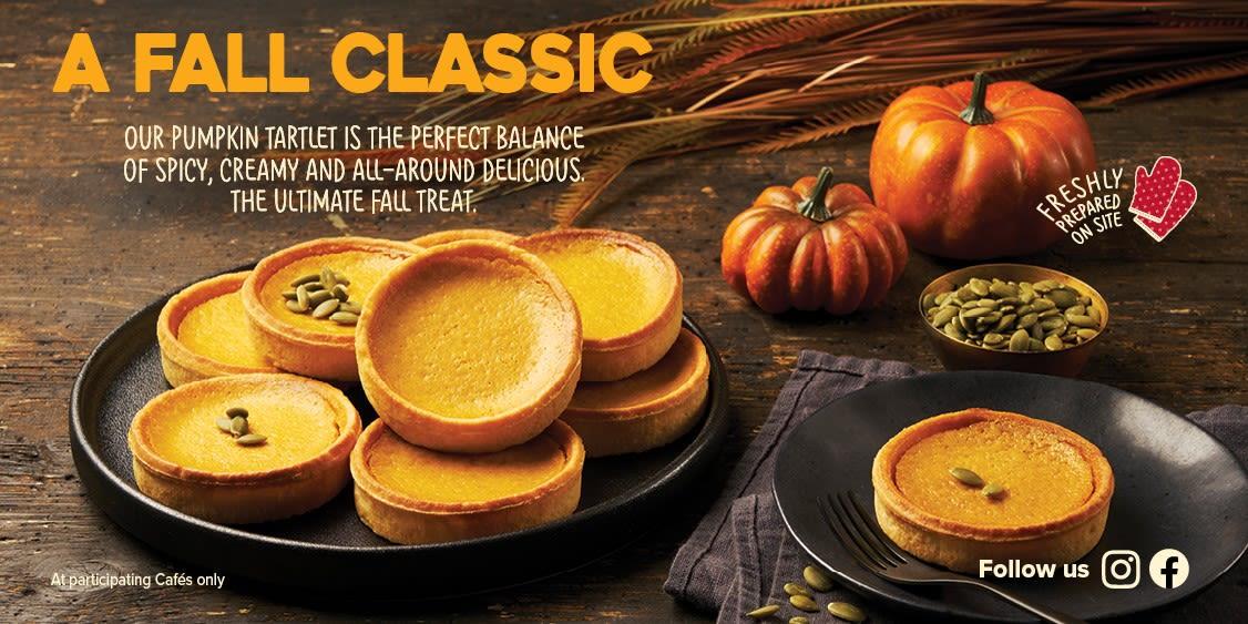 [Image] [offer] Our pumpkin tartlet is back!
