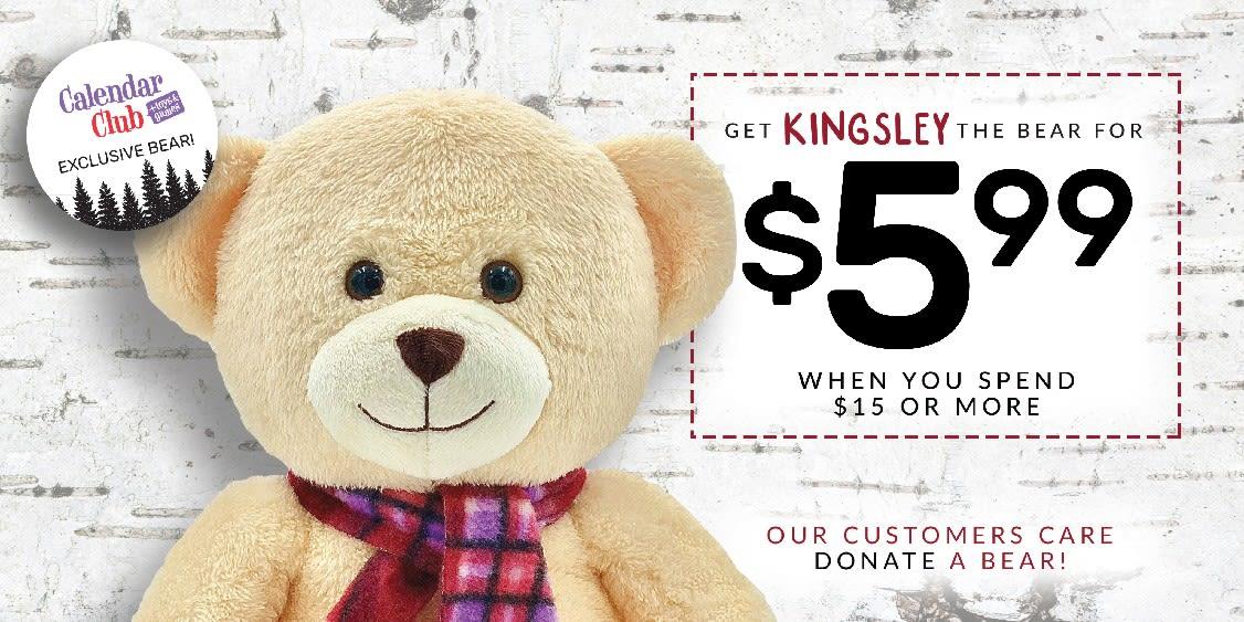 [Image] [offer] Kingsley the Bear - $5.99