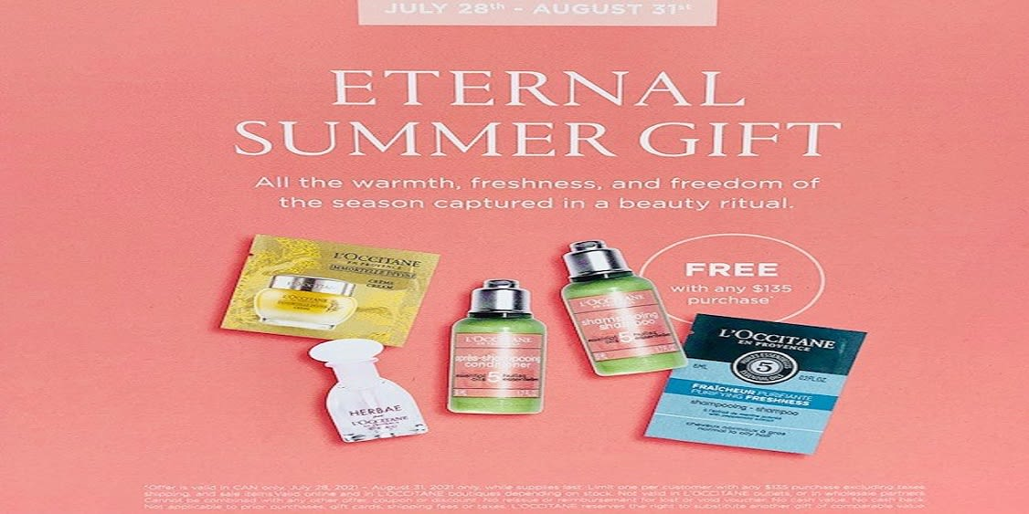 [Image] [offer] Eternal Summer Gift: Receive a FREE gift with a purchase of $135+