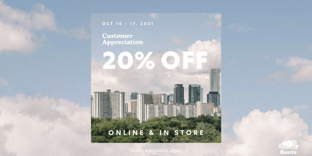[Image] [offer] Customer Appreciation 20% Off*