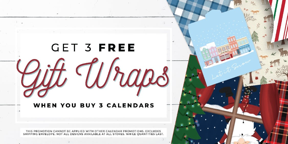 [Image] [offer] Gift Wrap: 3 Free When You Buy 3 Calendars!