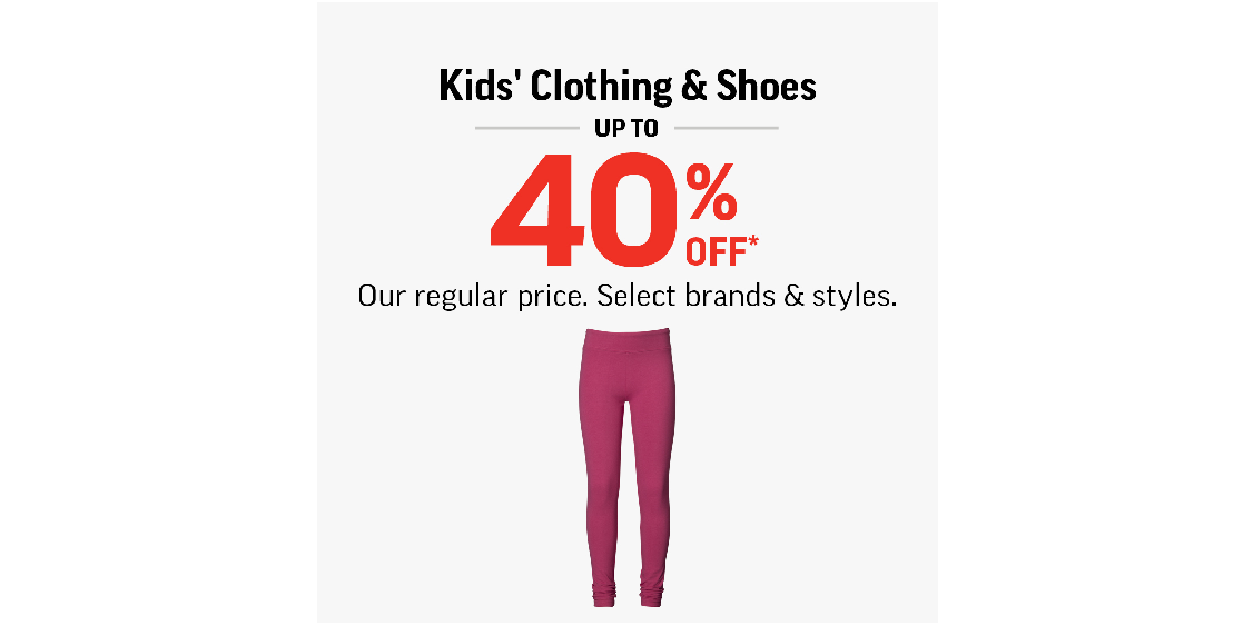 [Image] [offer] Kids' Clothing & Shoes Up To 40% Off!