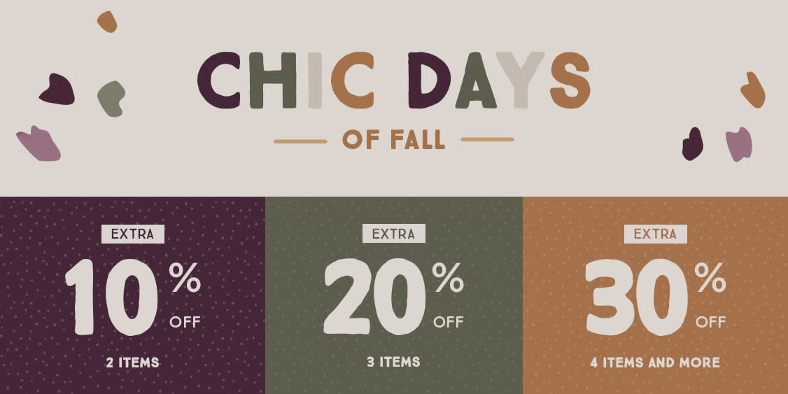 [Image] [offer] Chic Days of Fall - Up to 30 %