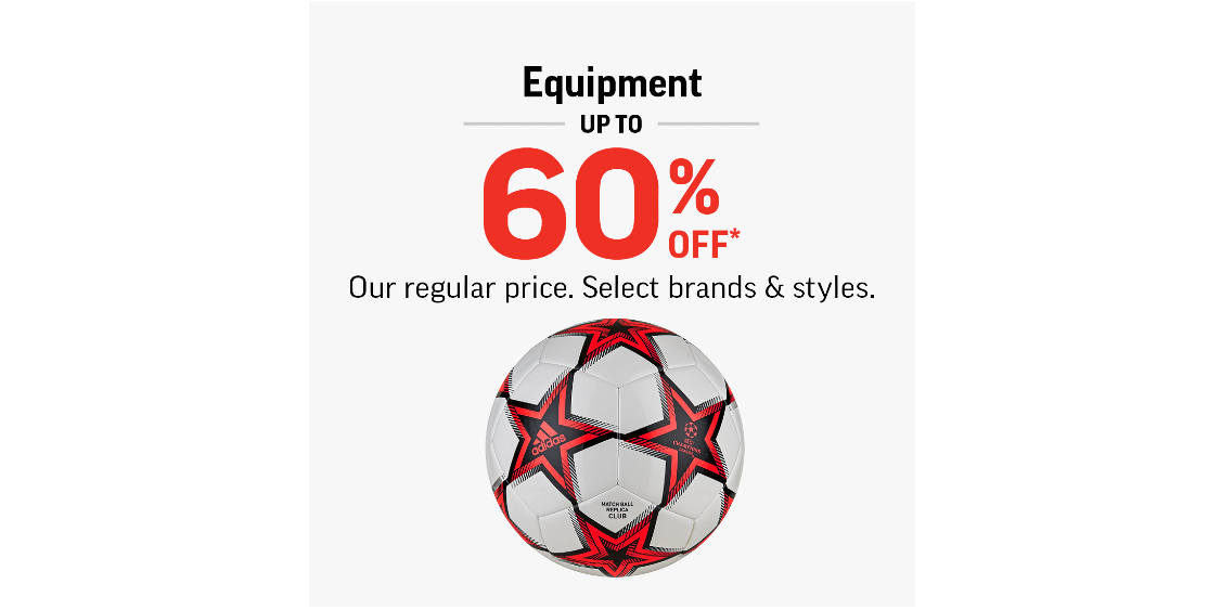 [Image] [offer] Equipment Up To 60% Off*!