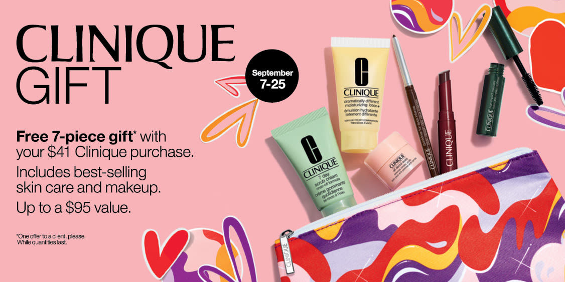 [Image] [offer] CLINIQUE FREE GIFT WITH PURCHASE - September 7th to 25th, 2021