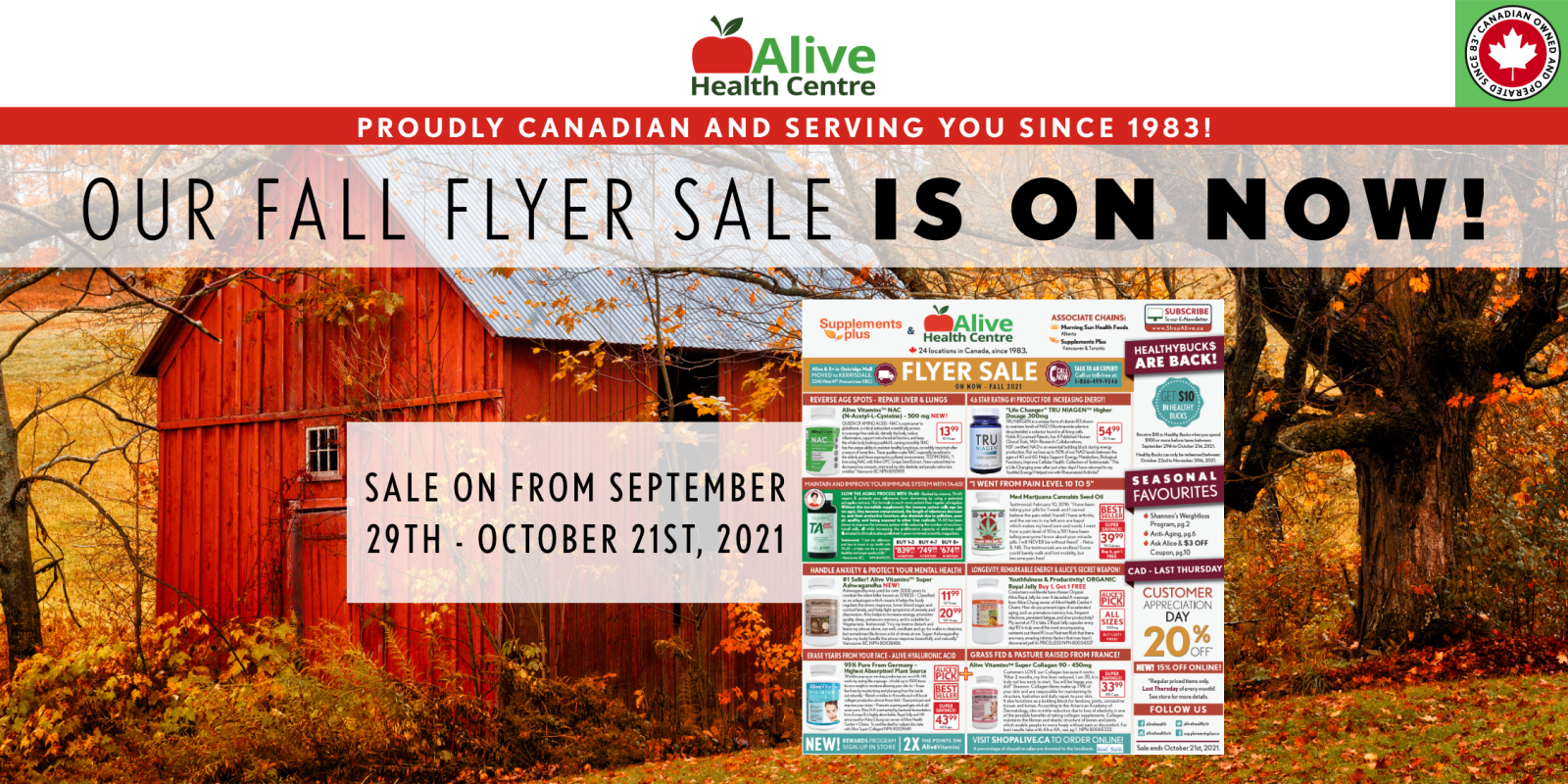 [Image] [offer] Our Fall Flyer Sale is on NOW!