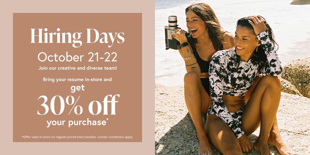 [Image] [offer] Hiring Days!