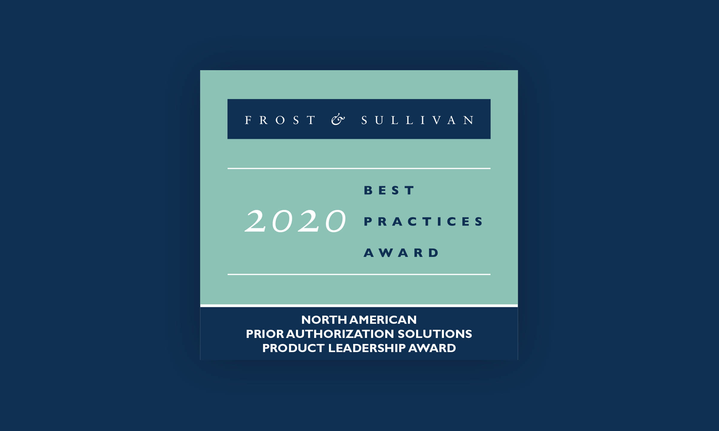 A graphic of the Frost & Sullivan award logo badge.