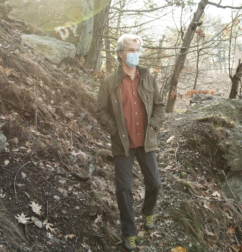 Dennis on a hike