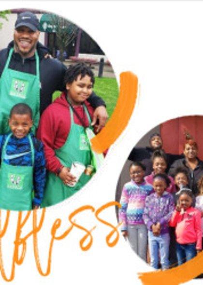 Volunteers helping out in their communities.
