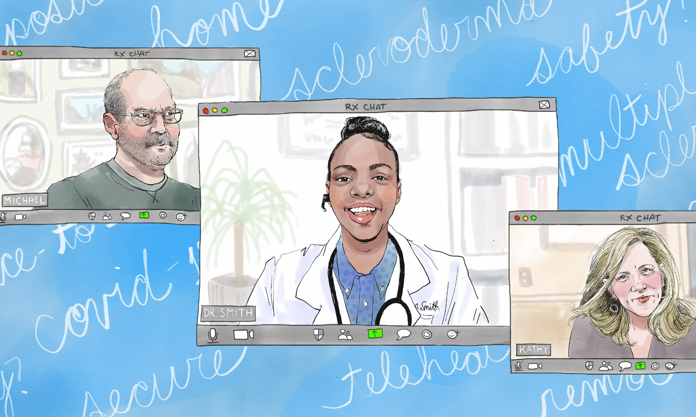 Two patients telehealth visit