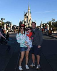 Matt Hare and his family enjoy their time at the Magic Kingdom.