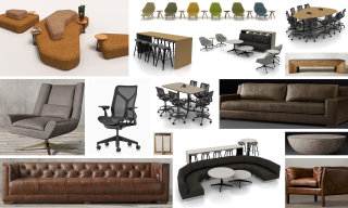 A collage of images showing the type of furniture in our Franklinton campus.