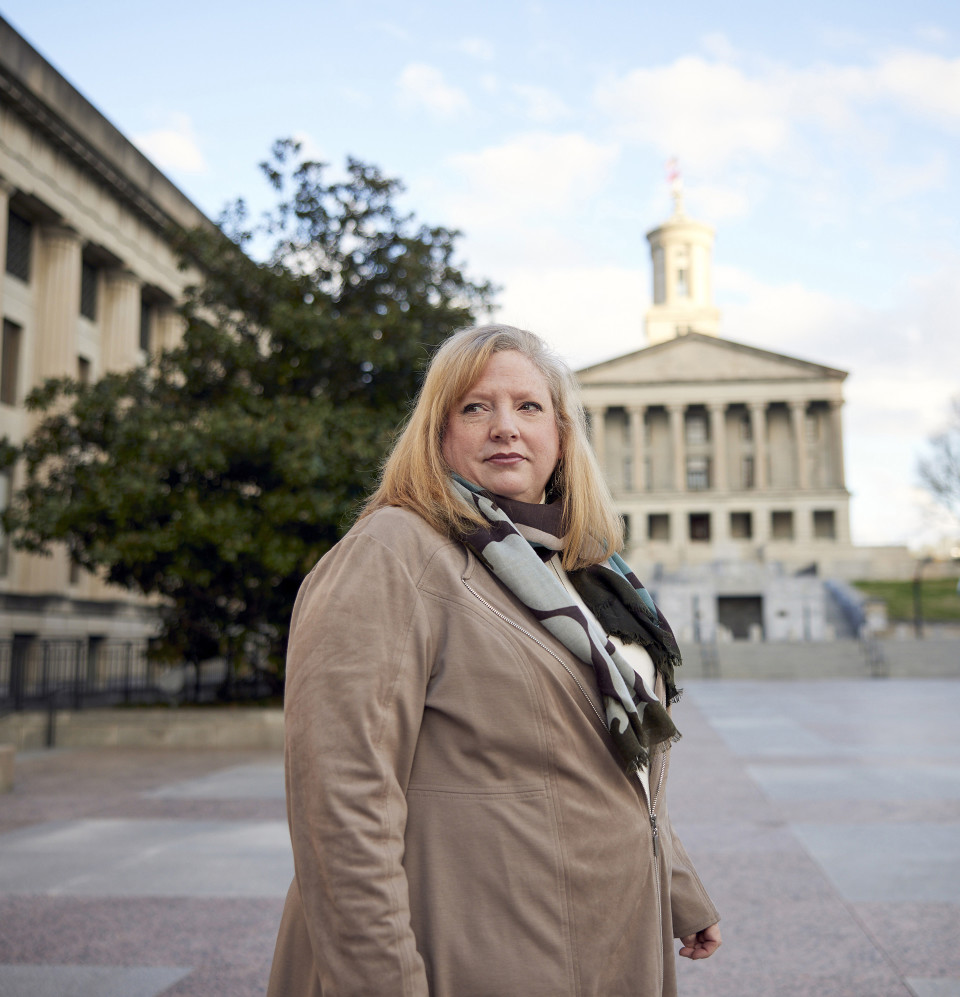 Julie at the Tennessee state capitol