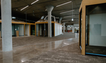 A photo from inside our campus showing various meeting rooms.