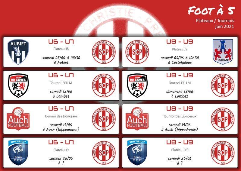 Planning matchs mai-juin - Foot 5