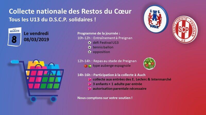 2019-03-08 - Éducatif - Citoyenneté - Collecte nationale des Restos du Coeur