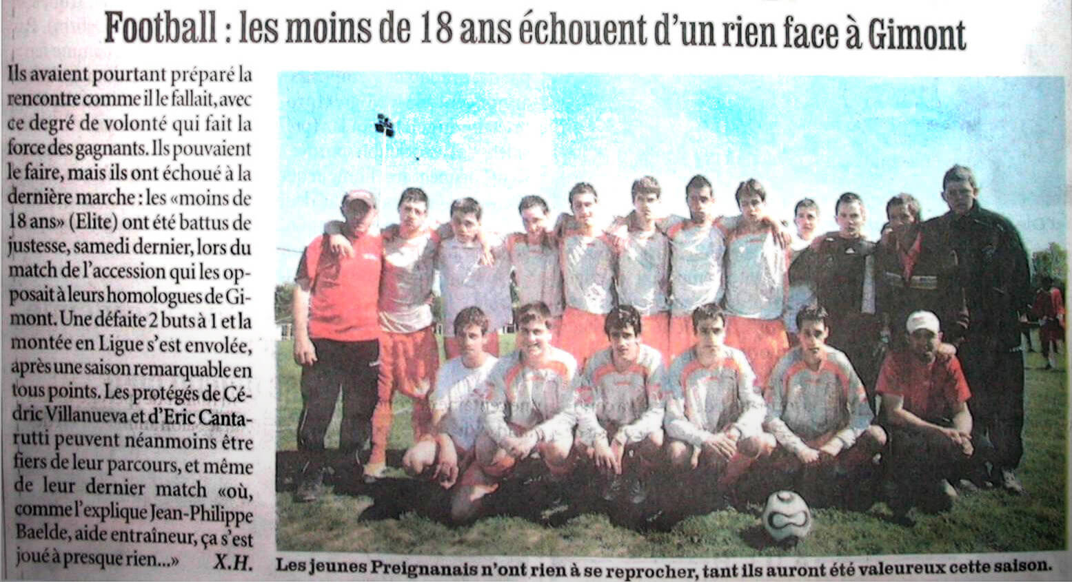 SCP 2007-2008 - 18 ans - EVG