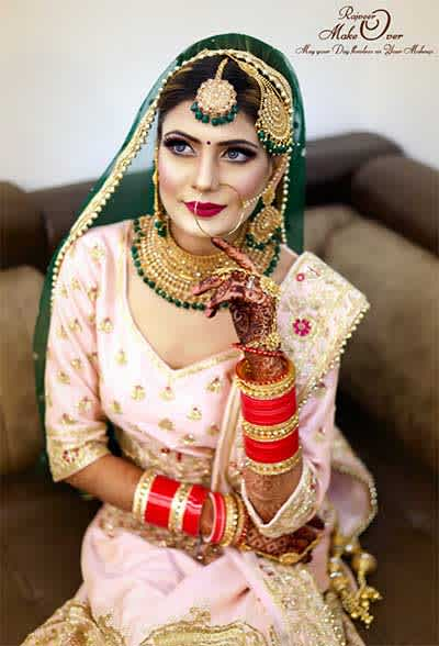 Indian bridal look that isn't all about red!