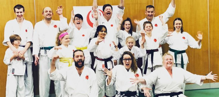 People from the karate class