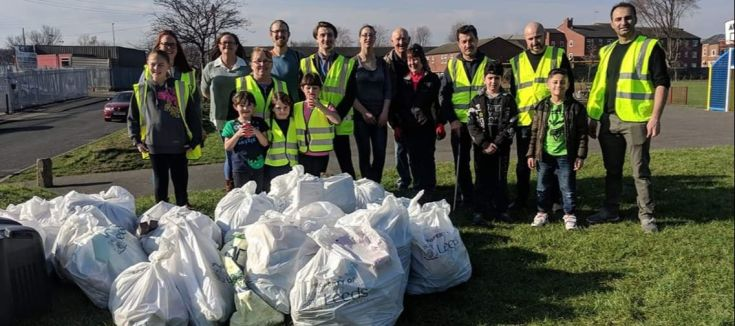 People after litter picking