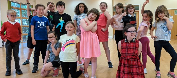 Children from the drama group