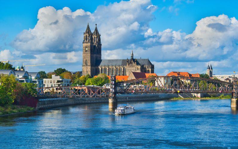 Ansicht der Stadt Magdeburg