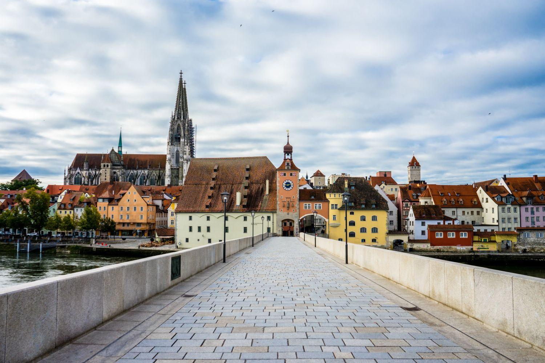 Ansicht auf die Skyline von Regensburg