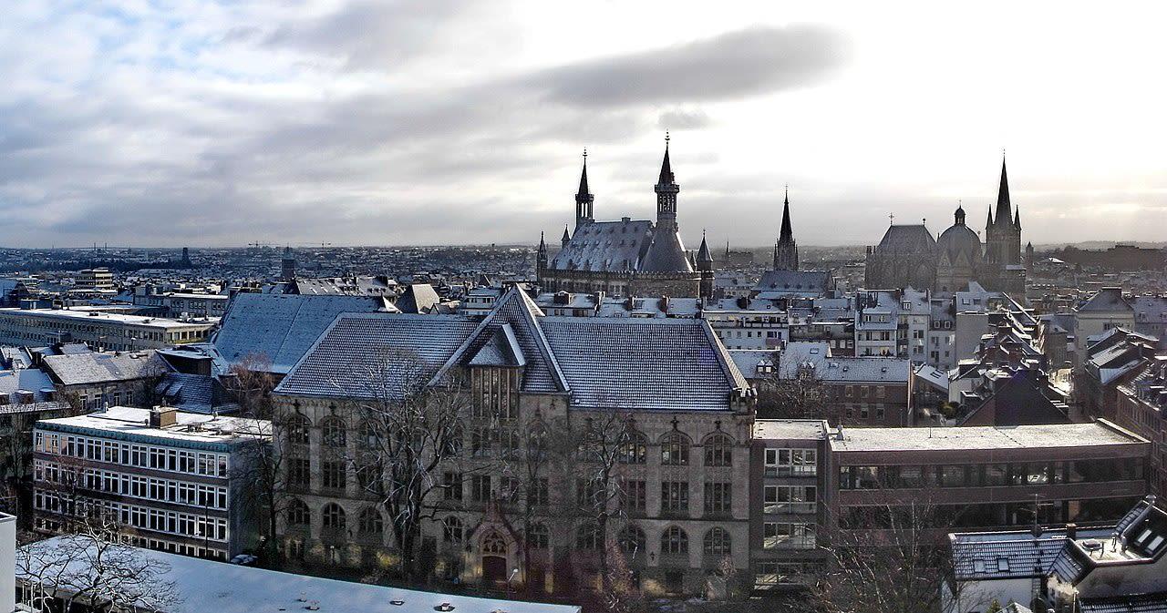 Aachen: Blick auf die Innenstadt