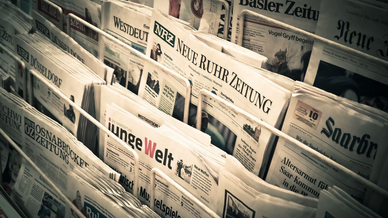 Zeitungsstand mit Vintageeffekt