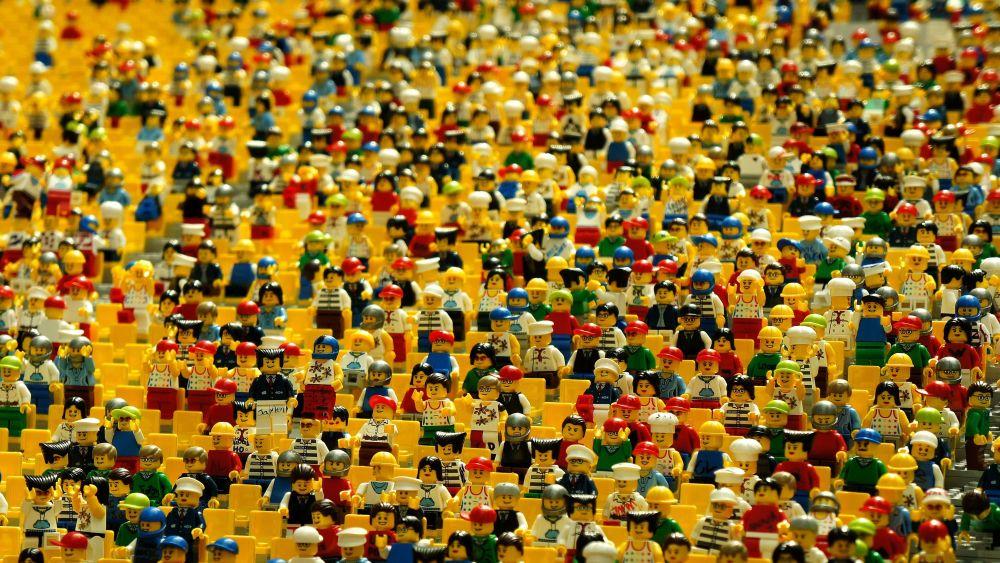 viele Legomännchen