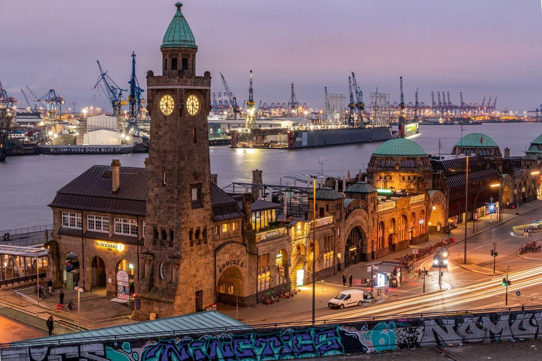 Ansicht auf den Hamburger Hafen
