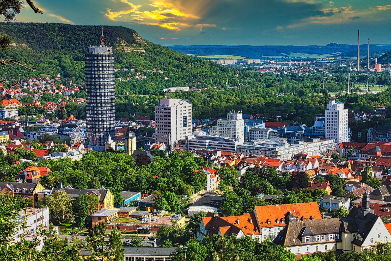 Ansicht der Stadt Jena