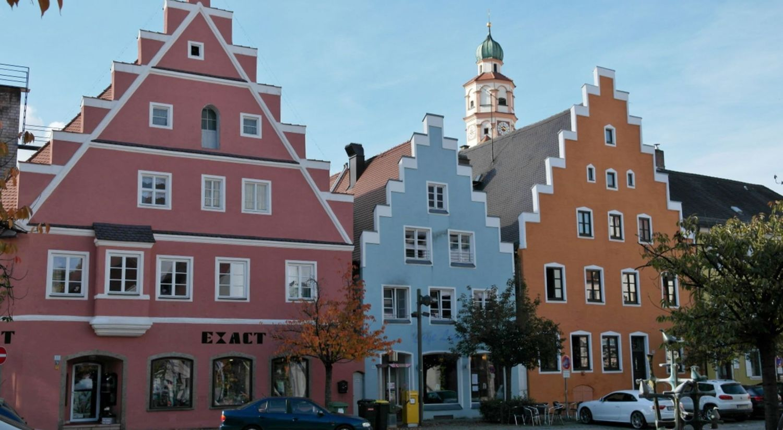 bunte Häuser der Stadt Schrobenhausen