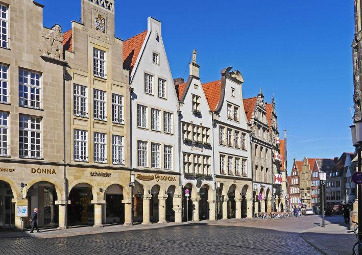 Ansicht des Prinzipalmarktes in der Stadt Münster