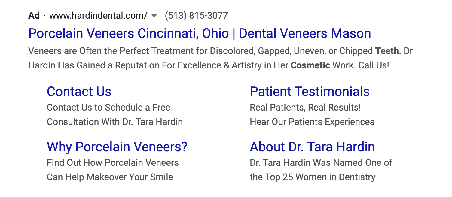 Dental Ad Example