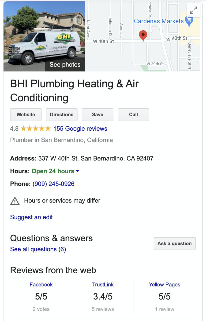 BHI Plumbing Heating and Air Conditioning