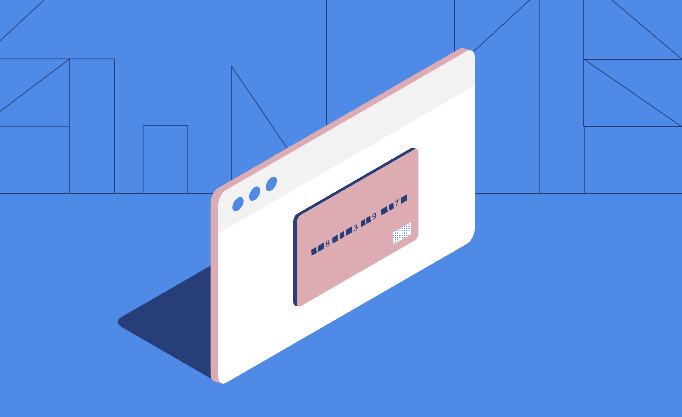 Illustrated credit card