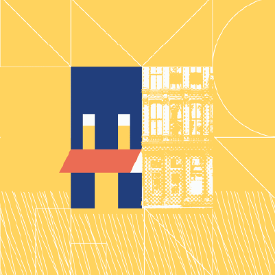 Illustrated brick and mortar business