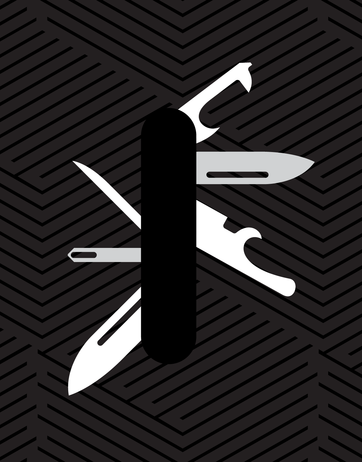 Illustrated swiss army knife