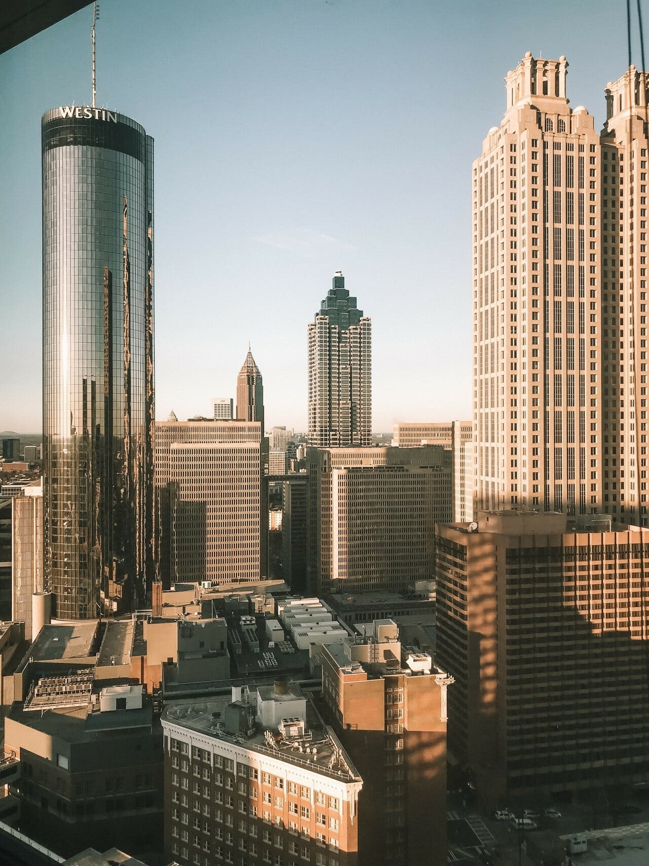 View from the CallRail office showing skyscrapers