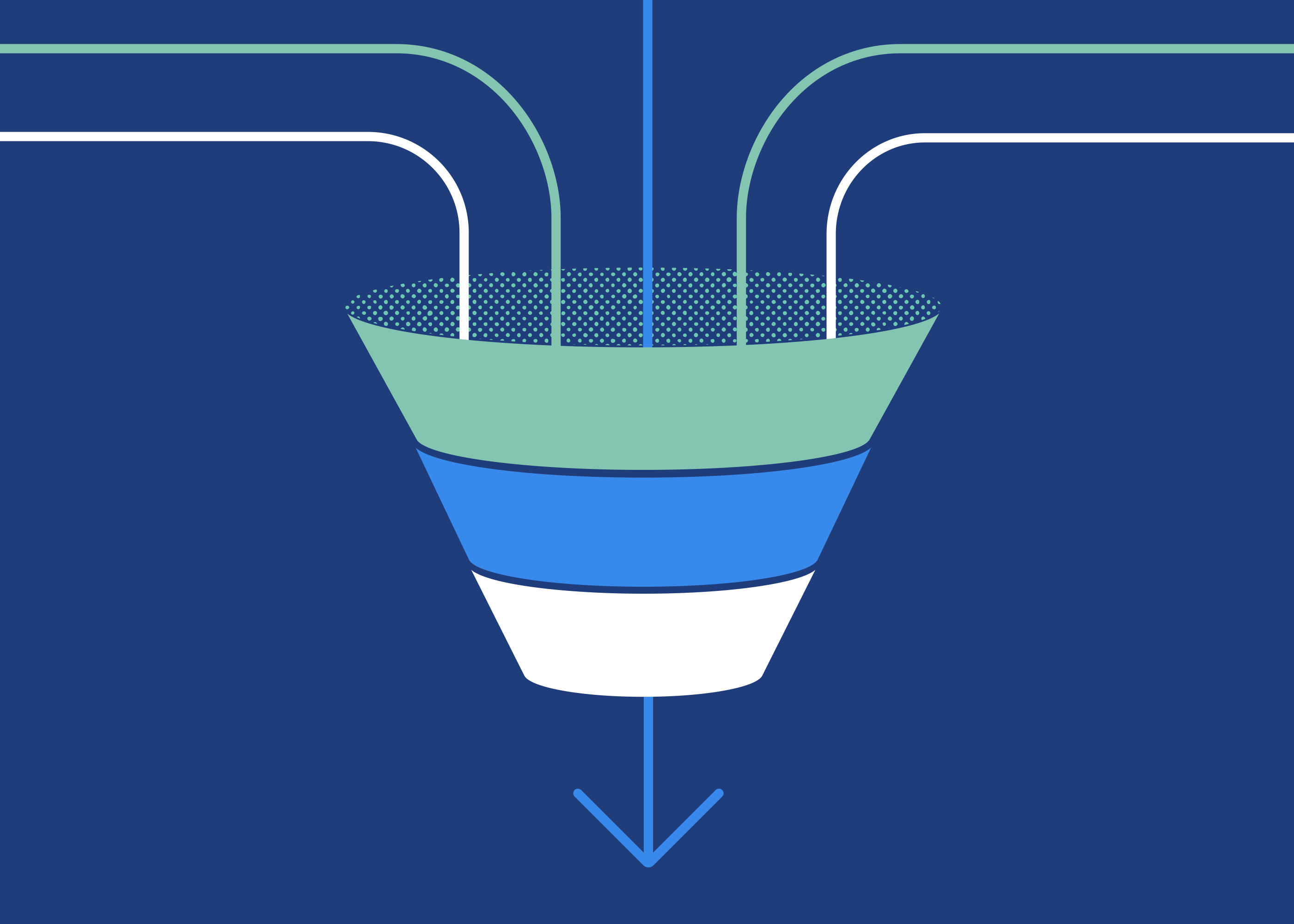 illustrated marketing and sales funnel