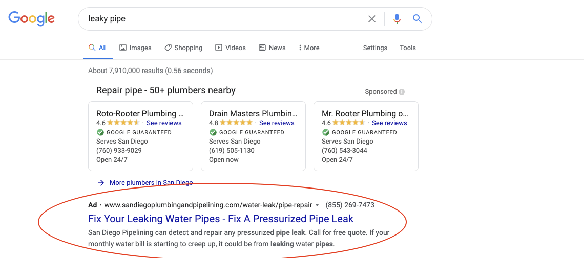 search-query-plumbing-issues