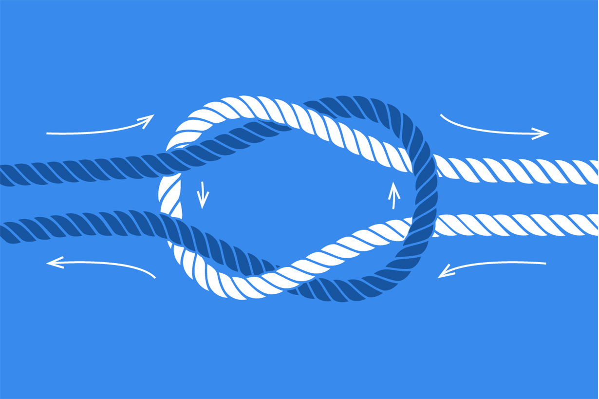 Illustrated rope knot