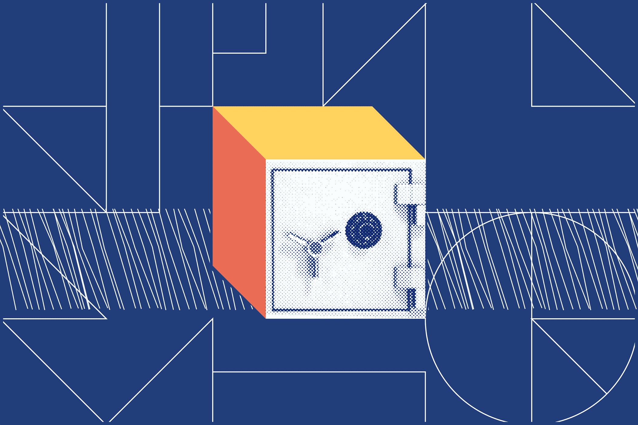 Illustrated locked vault.